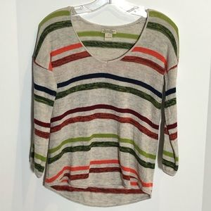 Lucky Brand Lightweight Knit Striped Sweater Small